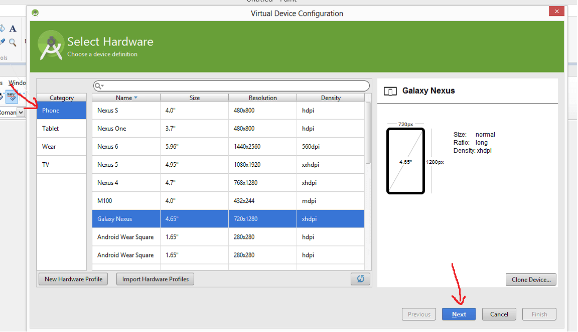 Create an emulator for testing in Android Studio | Foxit