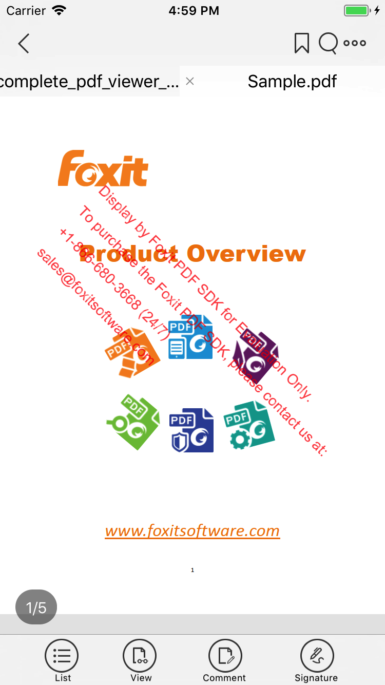 Developer Guide for Foxit PDF SDK for iOS | Foxit Developer