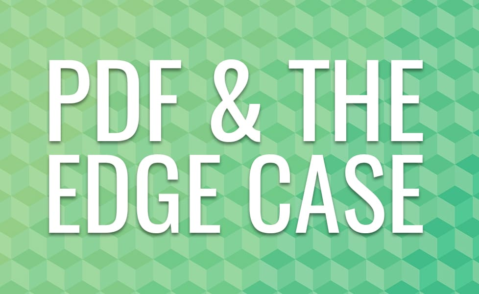 PDF and the Edge Case