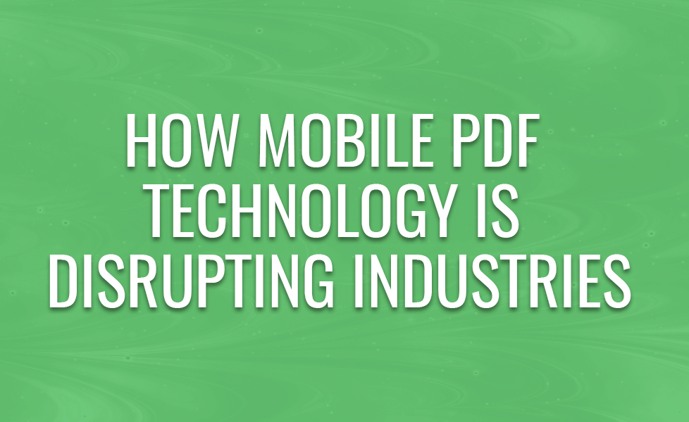 PDF in mobile environments
