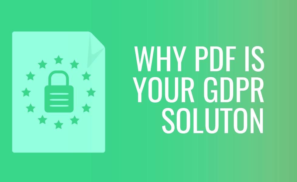 GDPR and PDF
