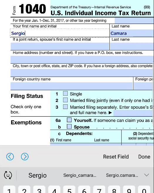 Form filling Android