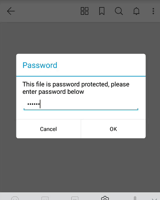 PDF Password Android