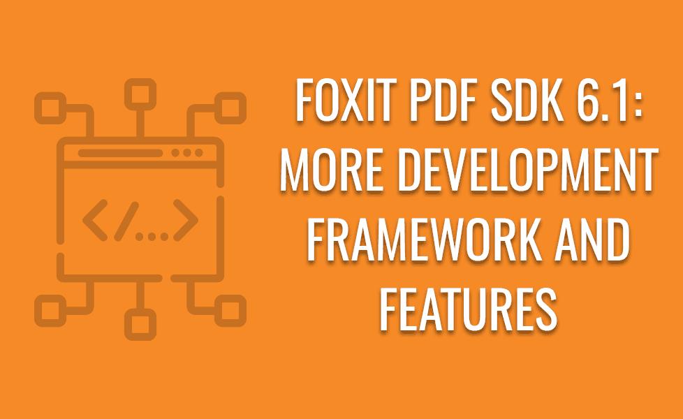 PDF SDK 6.1