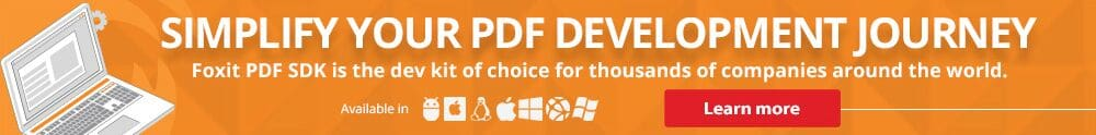 Simplify your PDF Development Journey