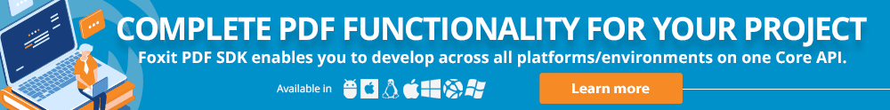 Simplify your PDF Development Journey